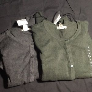 NWT H&M Basic Cardigan Grey  and Green Size M